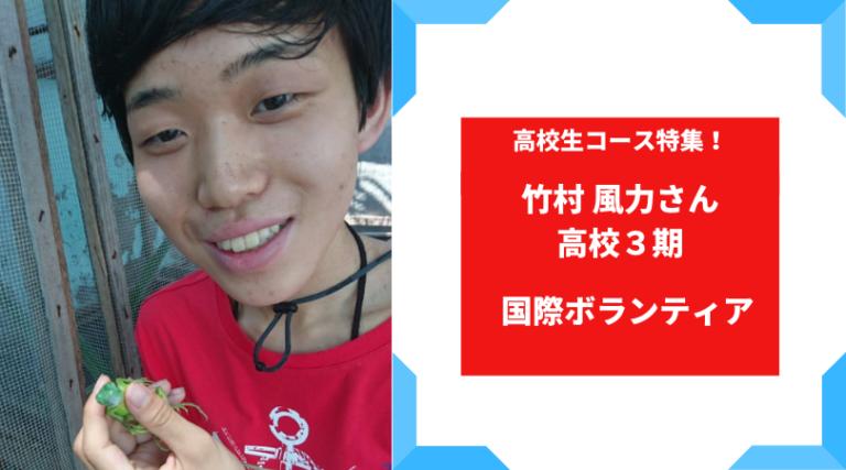 第49回 とまりぎインタビュー:竹村風力さん【ウミガメ救出大作戦】