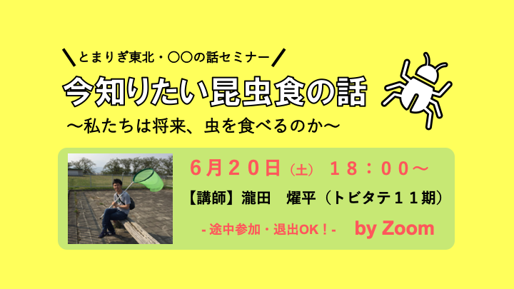 【予告】今知りたい昆虫食の話(オンライン開催)
